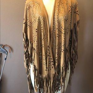 Jackets & Blazers - Faux suede cape. rust color
